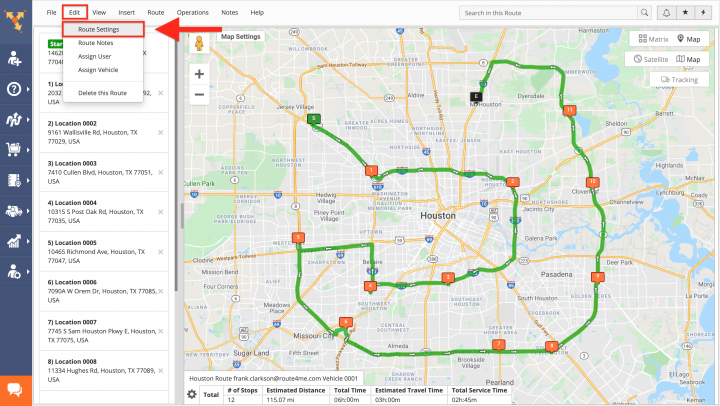Re-Optimizing Planned Routes with and Without Visited Stops Using the Route Editor on the route4me Web Platform