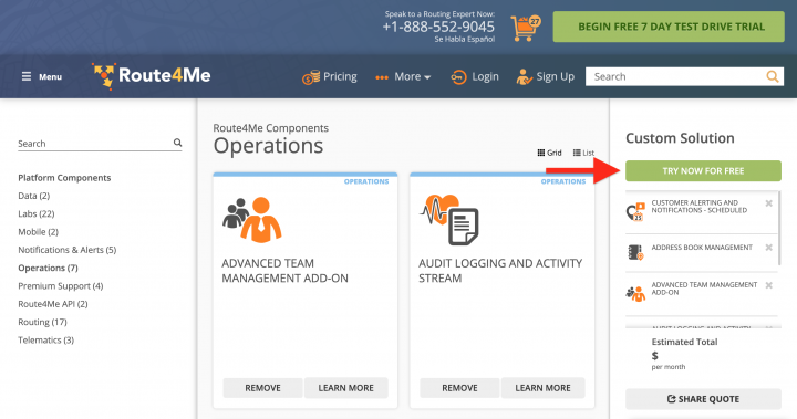 Customizing Your Subscription Plan with Route4Me's Marketplace and Creating a New Web Account Using Your Email Address