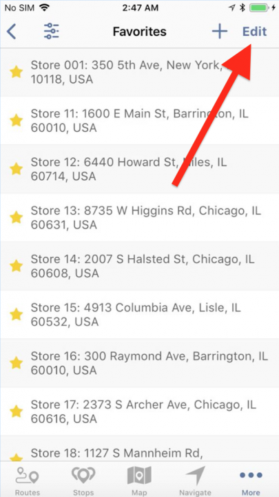 Managing your Favorite Addresses on an iPhone