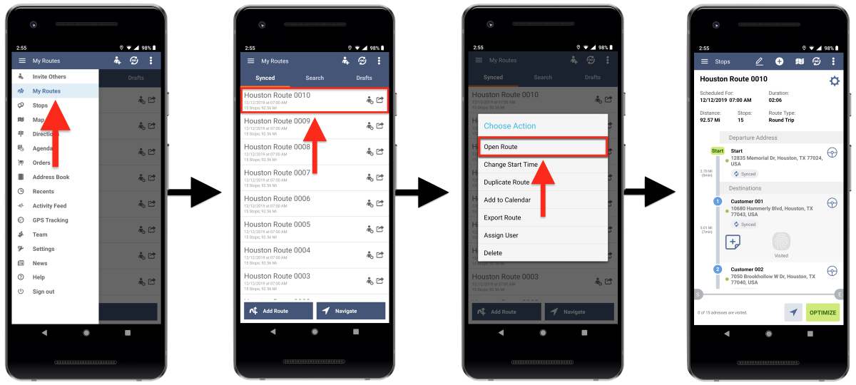 Third-Party Navigation Applications - Navigating Routes Using Third-Party Navigation Applications on Android Devices