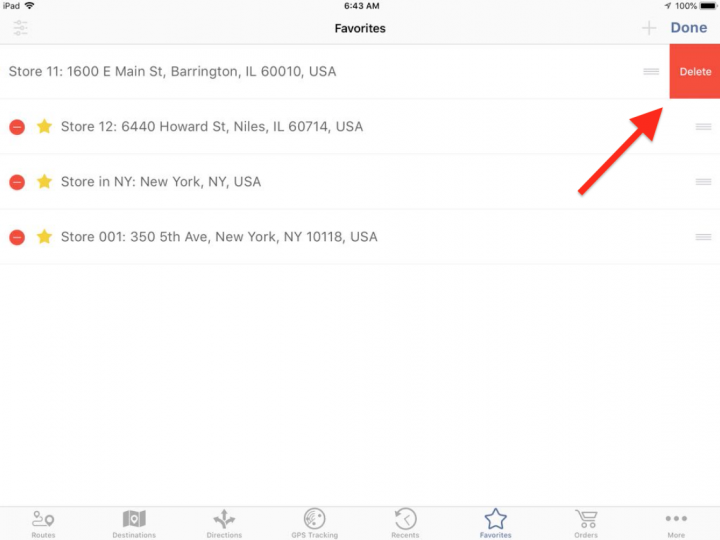 Managing your Favorite Addresses on an iPad