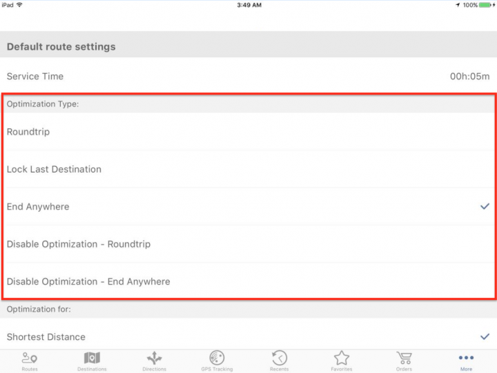 Using Advanced Route Planning Features on an iPad