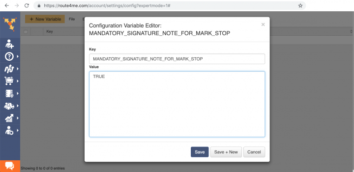Configuring Notes to Open Mandatory Actions Before Departing from a Stop