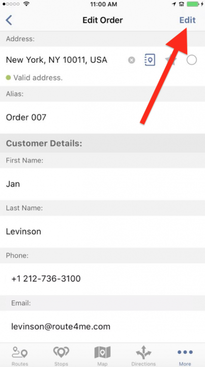 Managing Your Orders on an iPhone