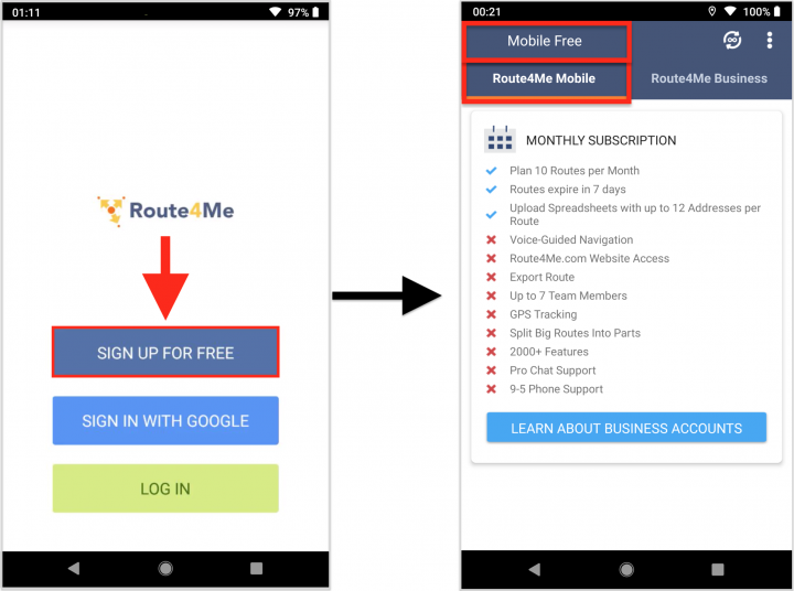 Understanding Route4Me Mobile Subscriptions (Android Devices)