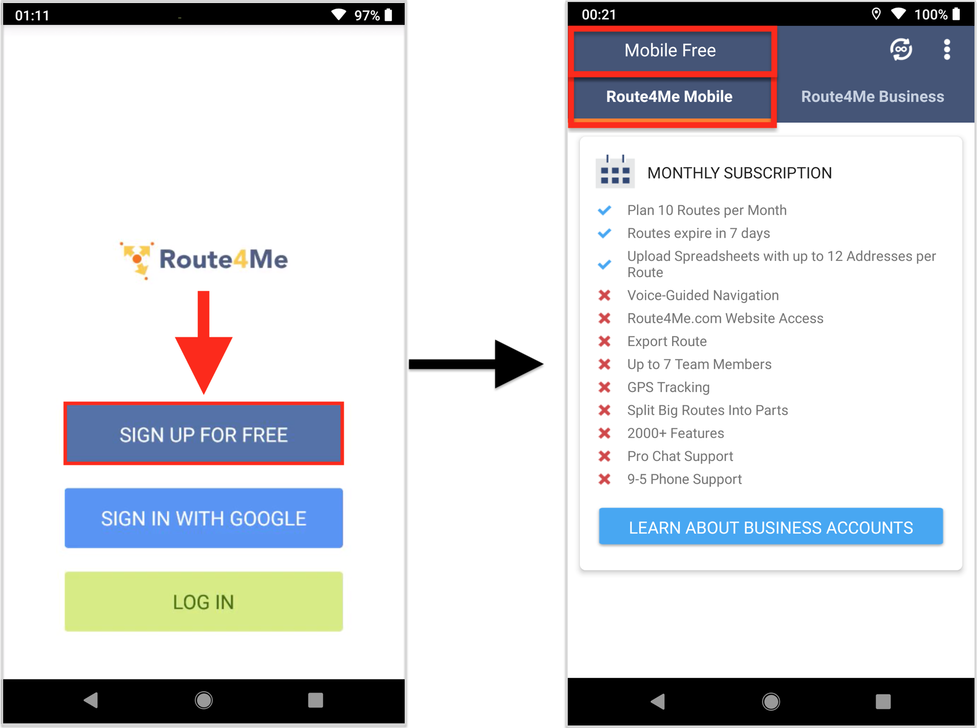 Understanding Route4Me Mobile Subscription Plans on Android Devices