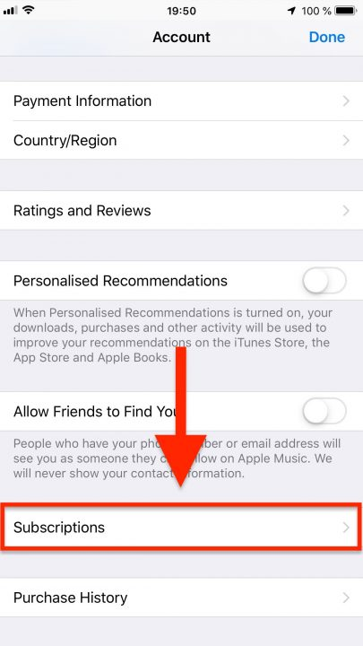 Viewing and Canceling Your Route4Me Mobile Subscription on an iPhone