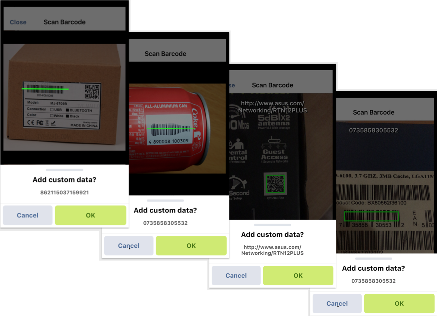 Barcode Types and Scanning Speed of the Route4Me iOS Mobile App