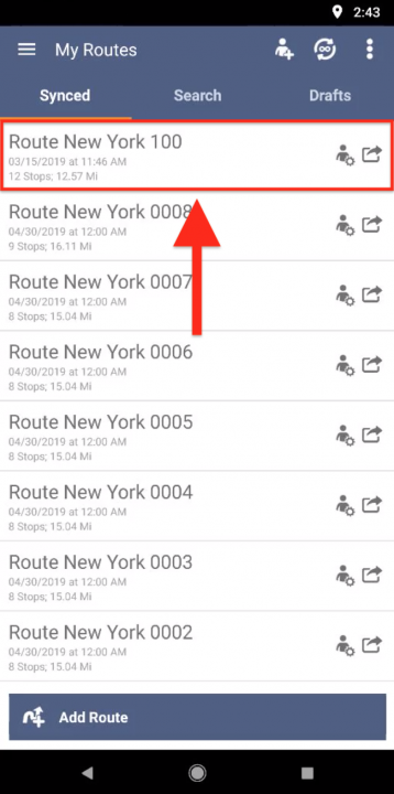 Using the Map for Planning Routes on Your Android Device