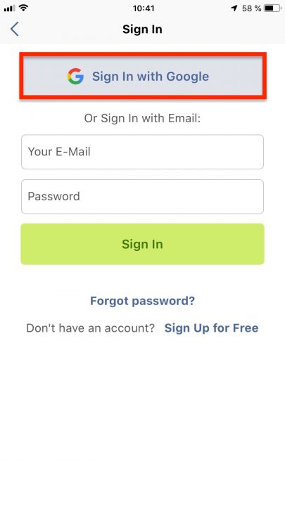 Using Google Single Sign-On on Your iPhone: Registering a New Route4Me Account and Signing In with Google