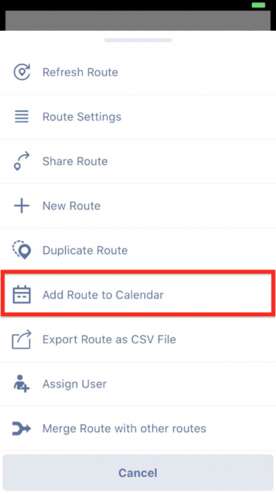 Adding Routes to the Calendar on your iPhone