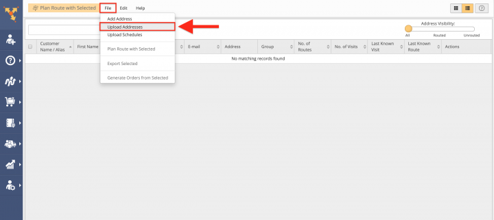 Uploading a Spreadsheet with Contacts into the Address Book List