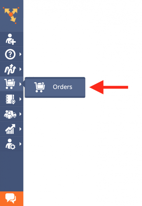 Generating Orders from Addresses and Contacts on the Address Book Map