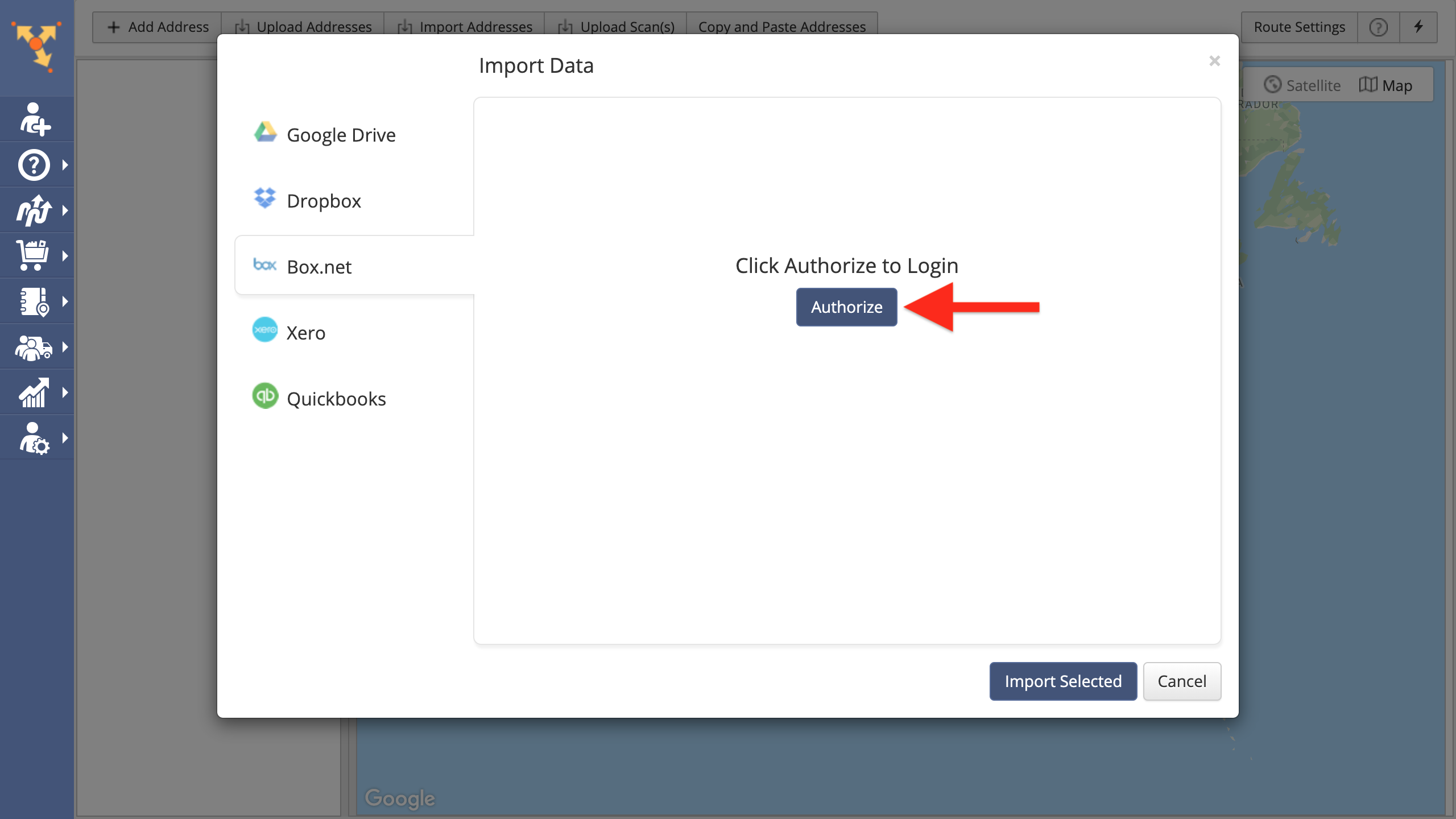 Box (Box net) Data Import - Importing Data from Box for Planning