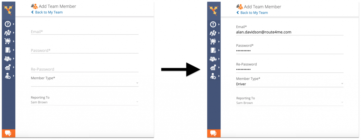 Creating New Users (Team Member Accounts) Using the Route4Me Web Platform