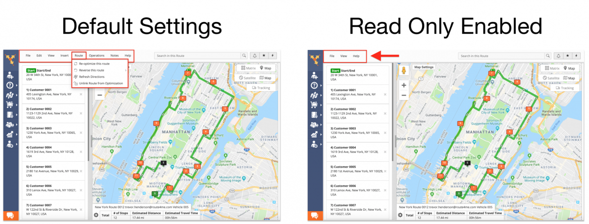 Read Only - Enabling the Read Only Mode for Users on the Route4Me Web Platform