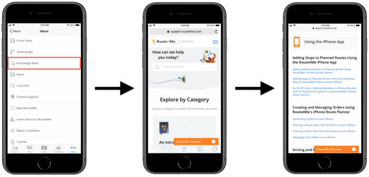 Getting Help When Using Route4Me's iPhone Route Planner