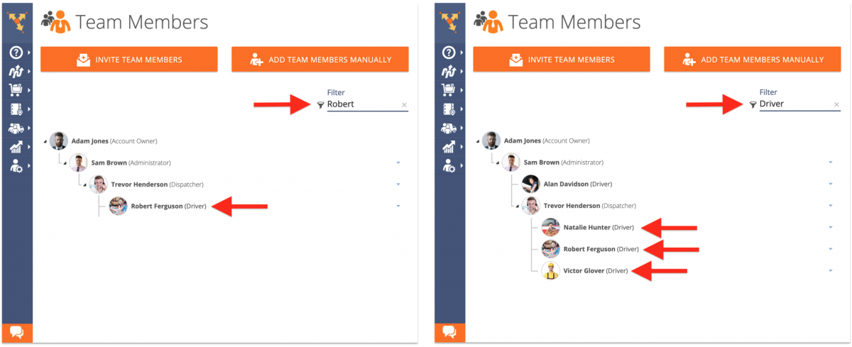Viewing and Managing the List of Users Associated with Your Route4Me Account (Route4Me Web Platform)
