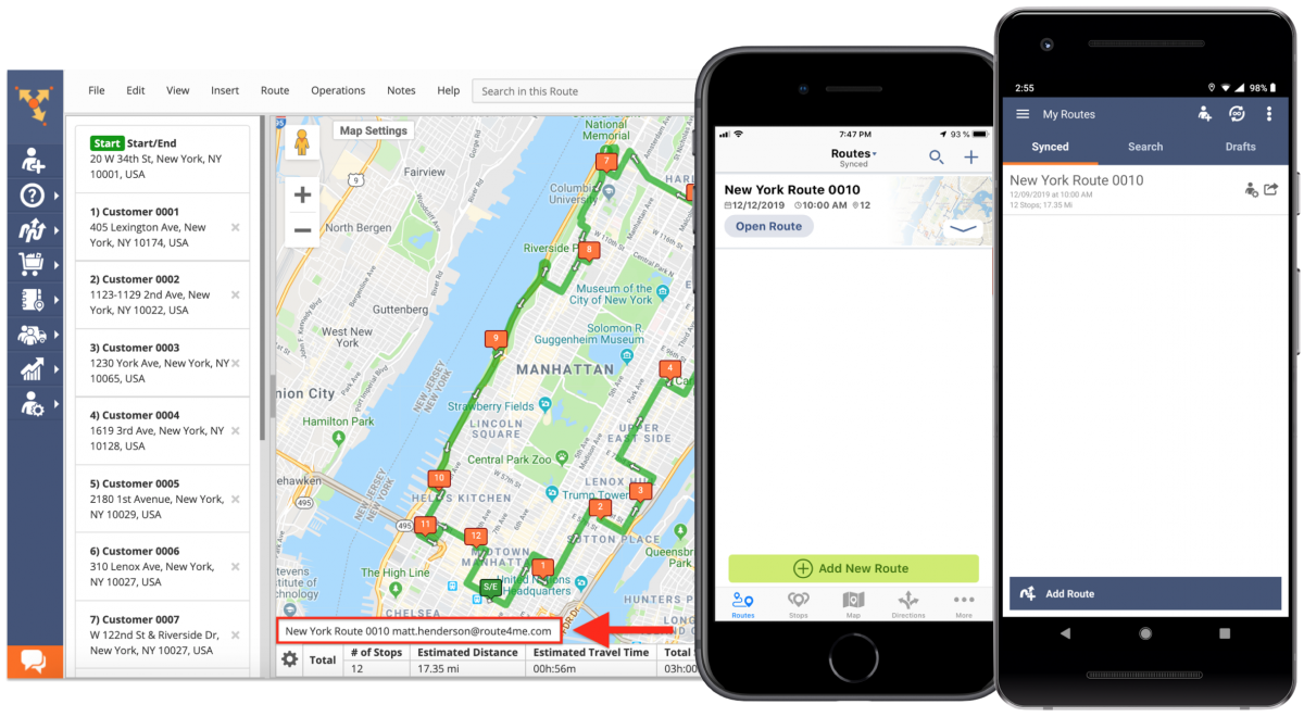 The Difference Between Sharing Routes and Assigning Users to Routes – Route4Me Web Platform