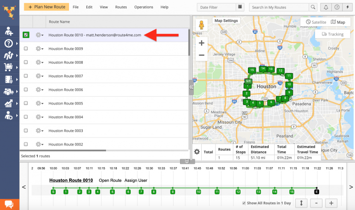 Assigning Users to Planned Routes (Route Editor, Routes List, Routes Map) on the Route4Me Web Platform