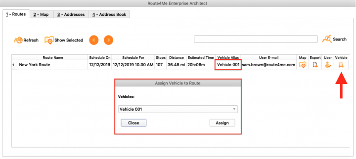 Managing Routes Using the Route4Me Enterprise Architect (Assigning Users and Vehicles, Exporting Routes, and More)