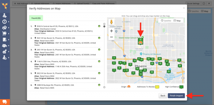 Retail Cross-Docking Route4Me Route Planning and Optimization