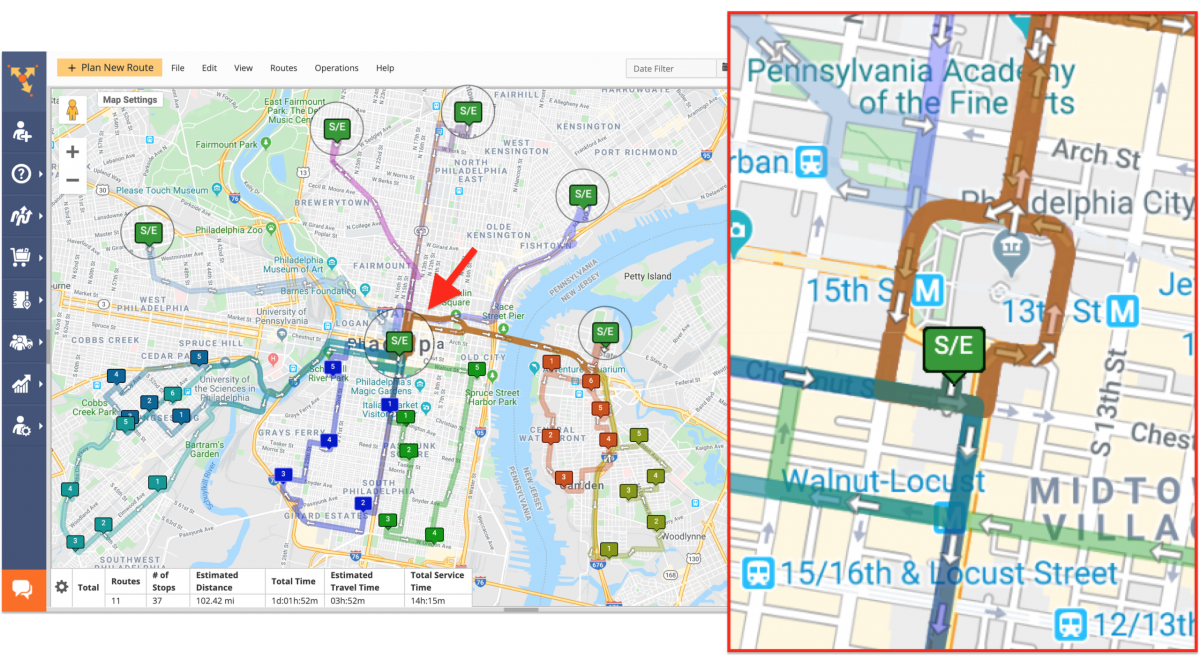 Cross-Docking Route4Me Route Planning and Optimization