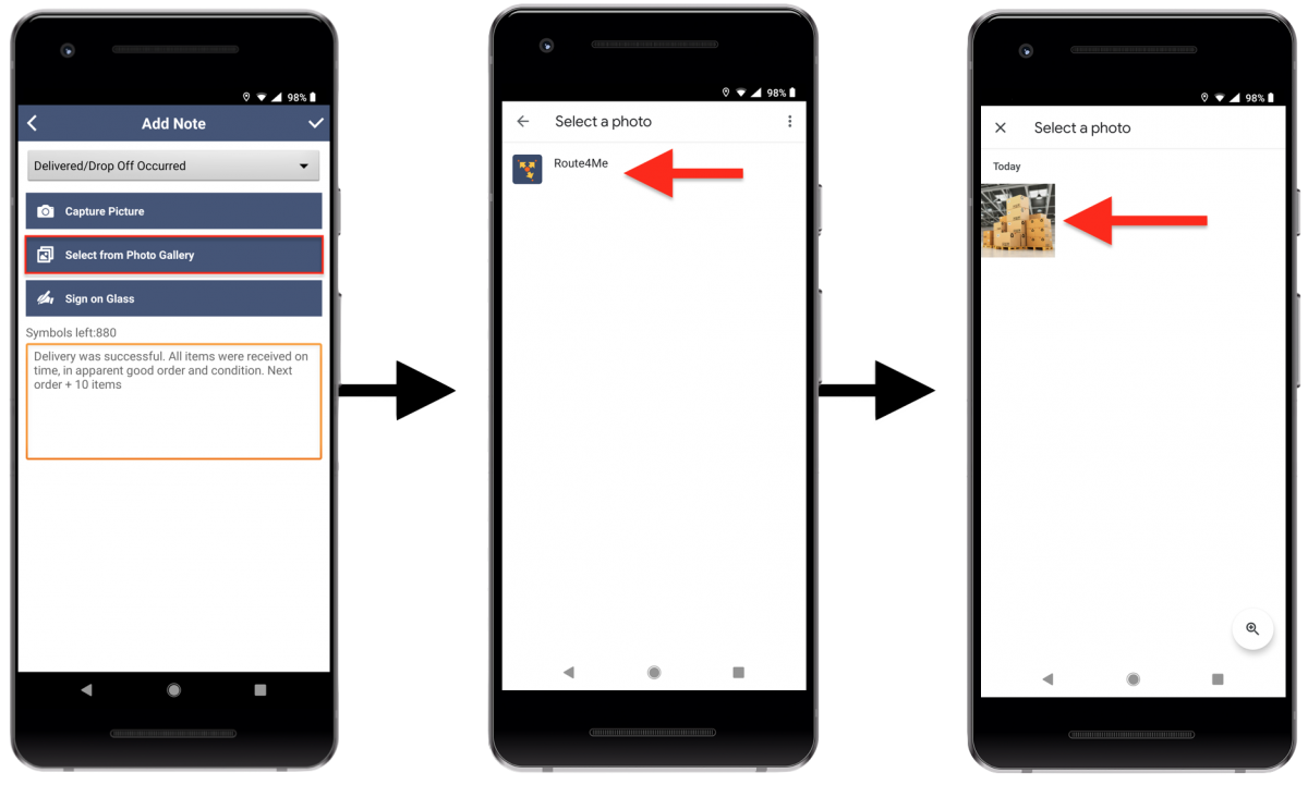 Image Attachments - Attaching Photos to Your Route Destinations Using Route4Me's Android Route Planner