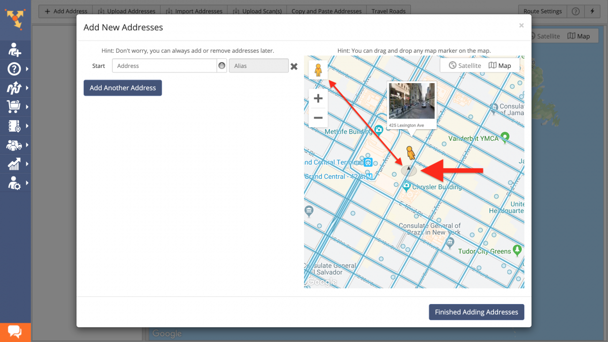 Route4Me Maps and Google Street View - Planning Optimized Routes Using Real-Wold Location Images