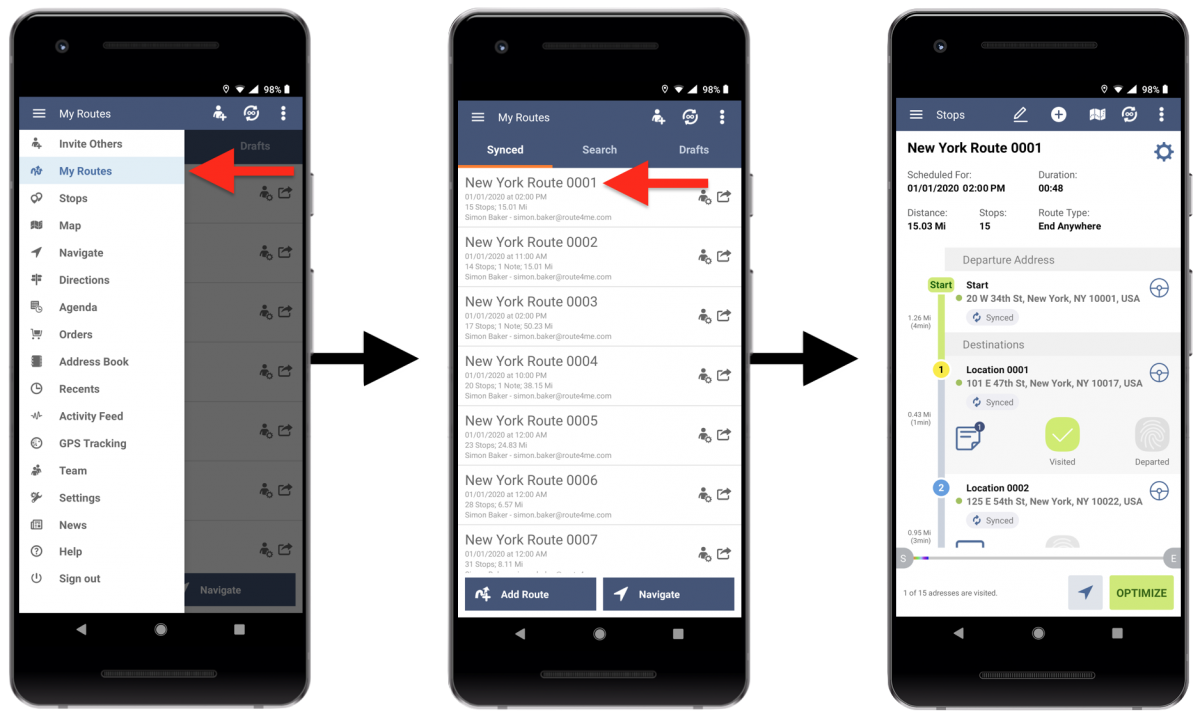 Route4Me Android Live Chat - Using the Live Chat in the Activity Stream on Your Route4Me Android Route Planner