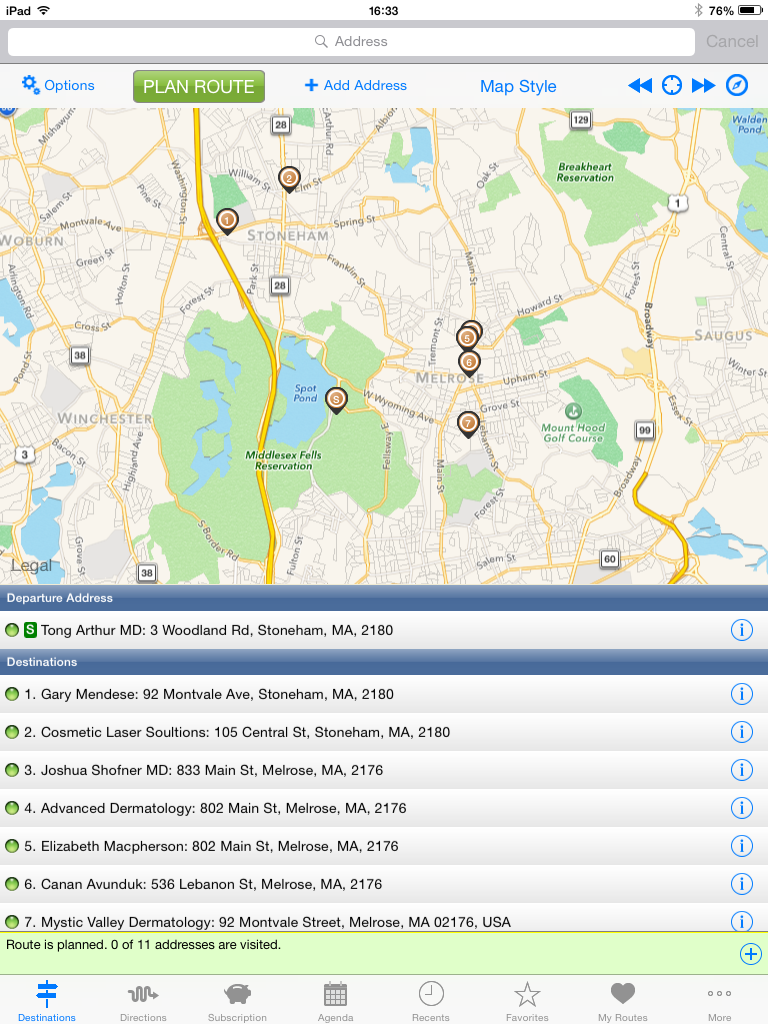 Route4Me is the best routing app for iPhones and Androids