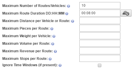 Your route planner with multiple stops can accommodate advanced time constraints