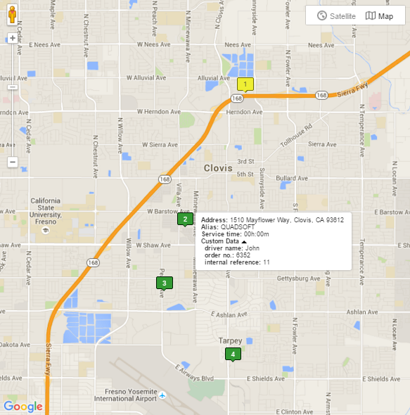 As map route planner, Route4Me allows you to see addresses on a map