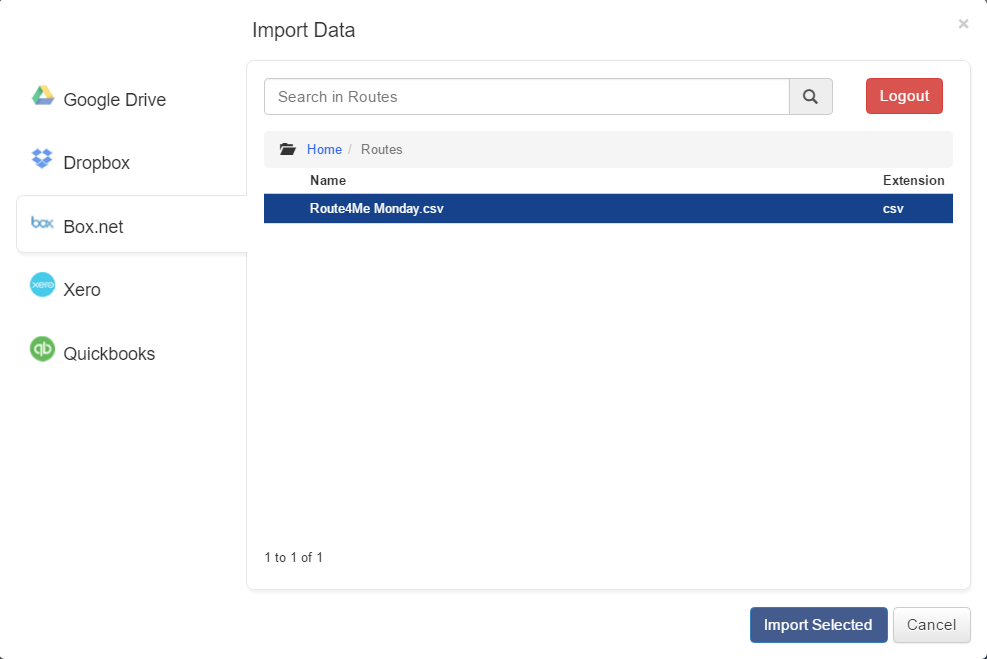 Create an optimized route by importing data using Route4Me