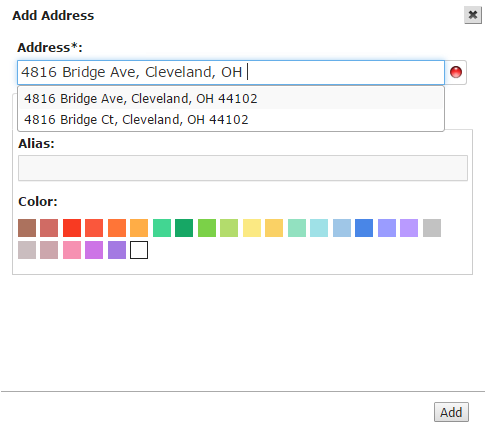 Route4Me, a route planner, easily adds addresses one by one to the address book