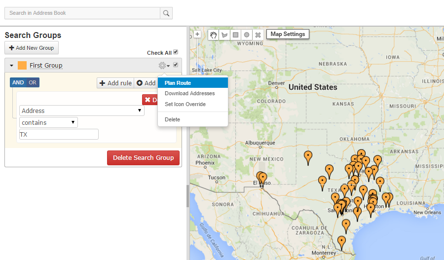 Route planning with Route4Me makes searching by group simple