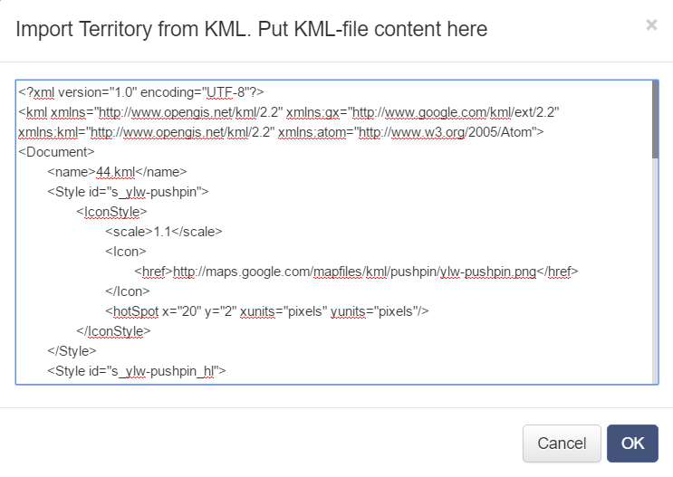 Make an optimized route using Route4Me's KML text import