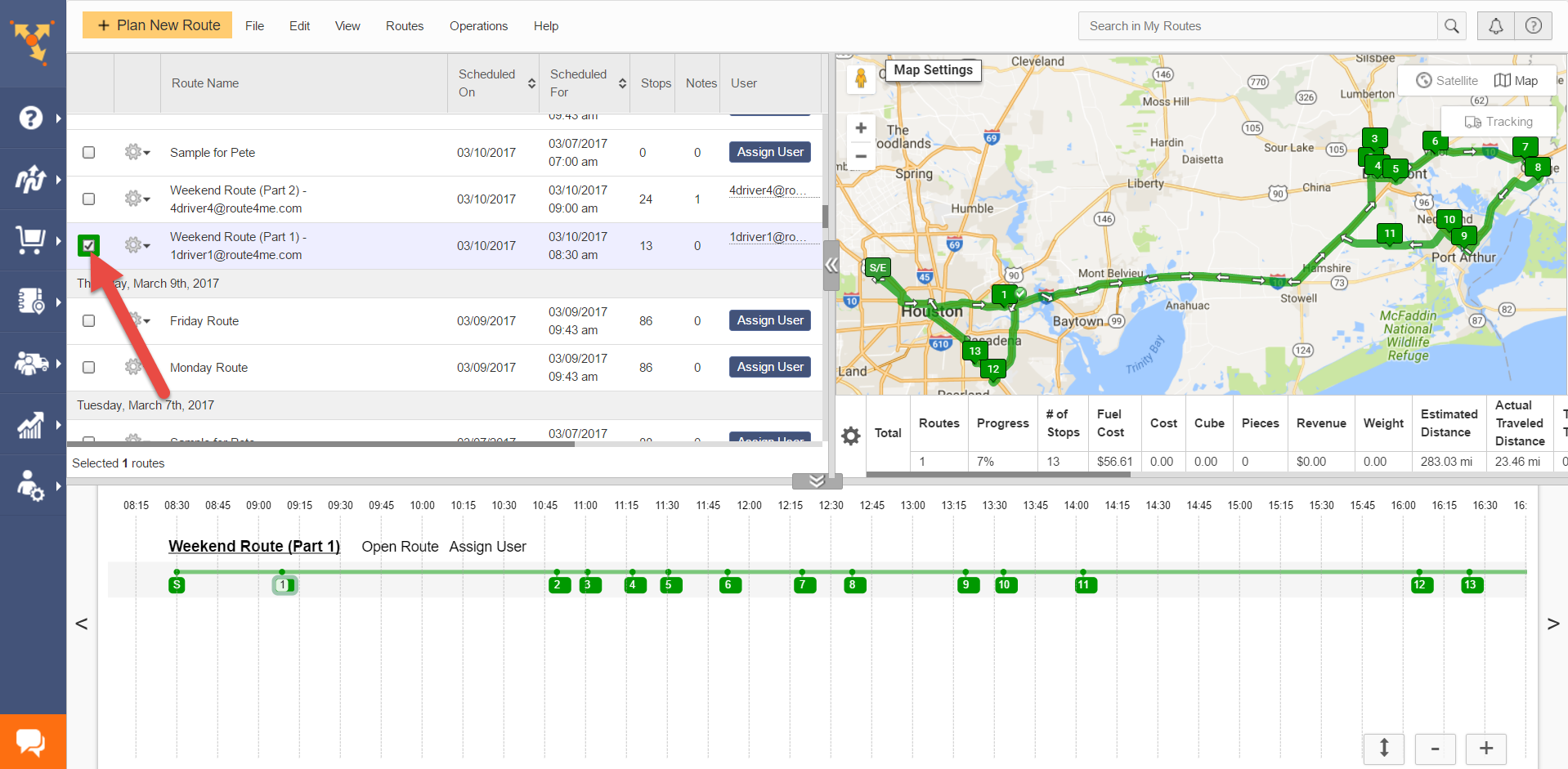 Route4Me serves as route planner with multiple stops where you edit address sequence