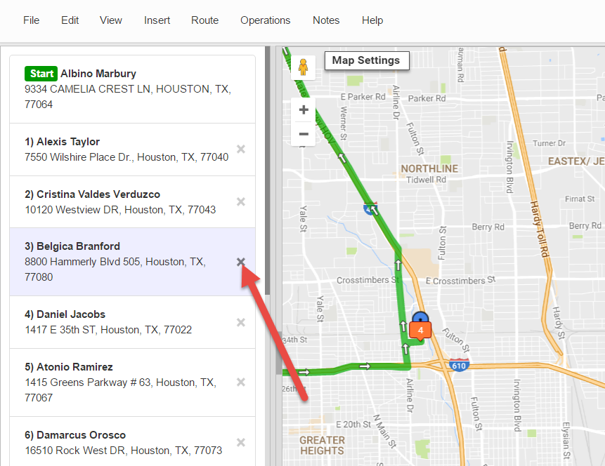 Route planning using Route4Me is simple with its address deletion function