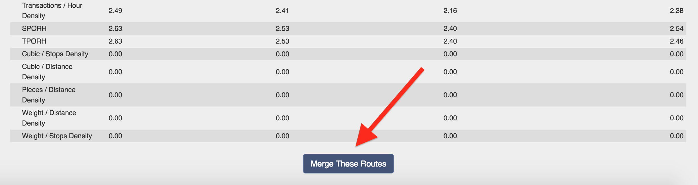 Merge routes into one using Route4Me's side by side comparison