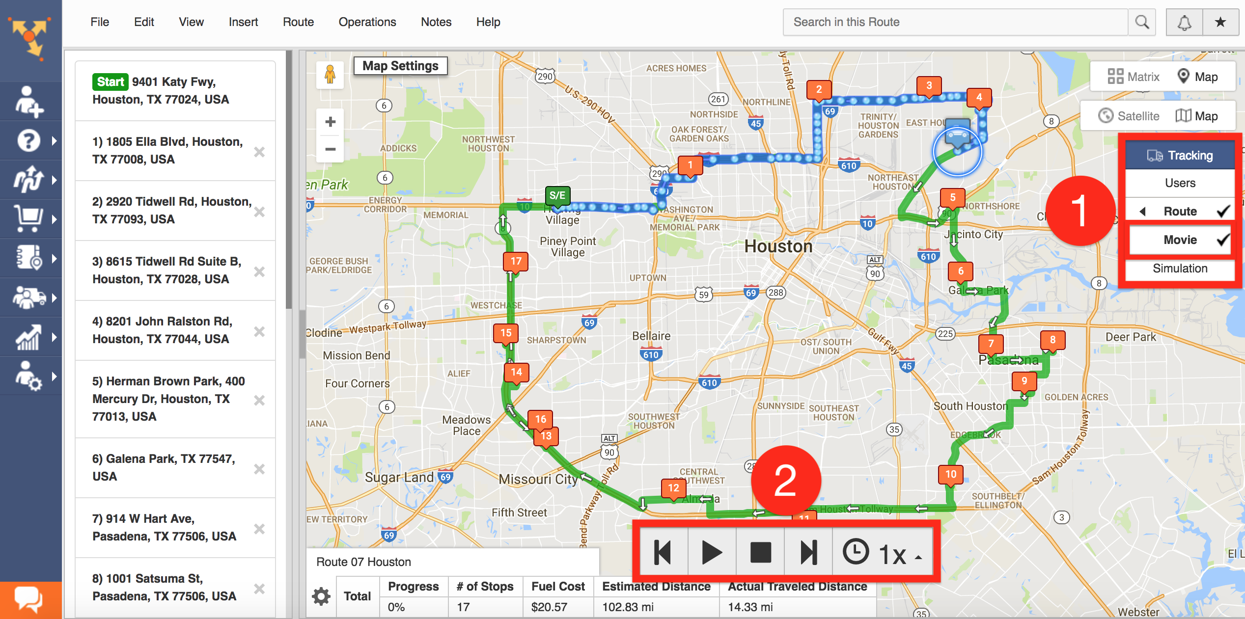 Route4Me Tracking: Real-Time GPS Tracking, GPS Distance