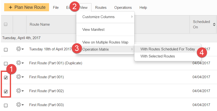 View your route mix using Route4Me