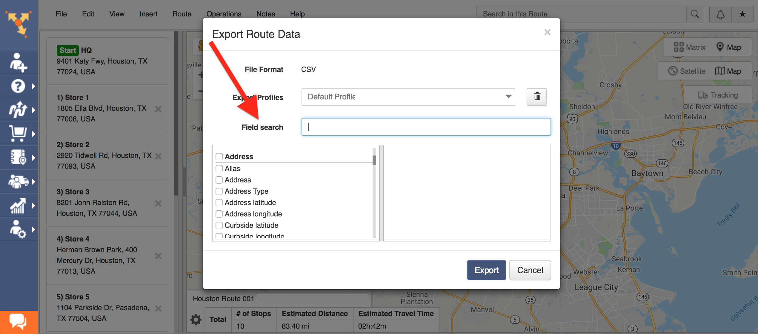 Export Routes and use them on other GPS Devices and Softwares with Route4Me - the Best Route Planner