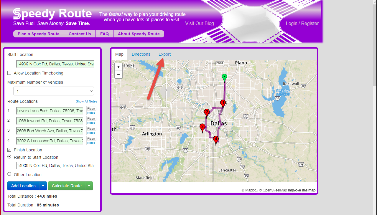 Move routes from SpeedyRoute to Route4Me easily