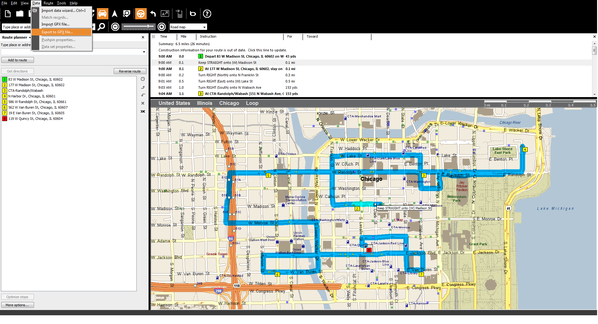 Switch to route planner Route4Me from Streets & Trips