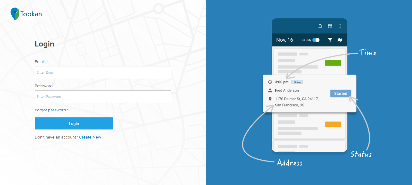 Move routes from Tookan to Route4Me easily