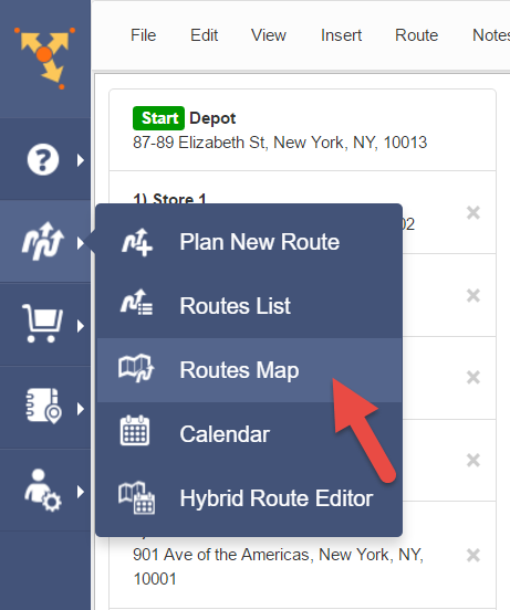 Switch to map route planner Route4Me from MapAnything