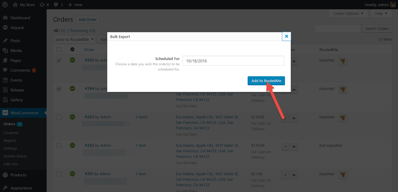 Route4Me serves as route scheduling software through its plugin for WooCommerce
