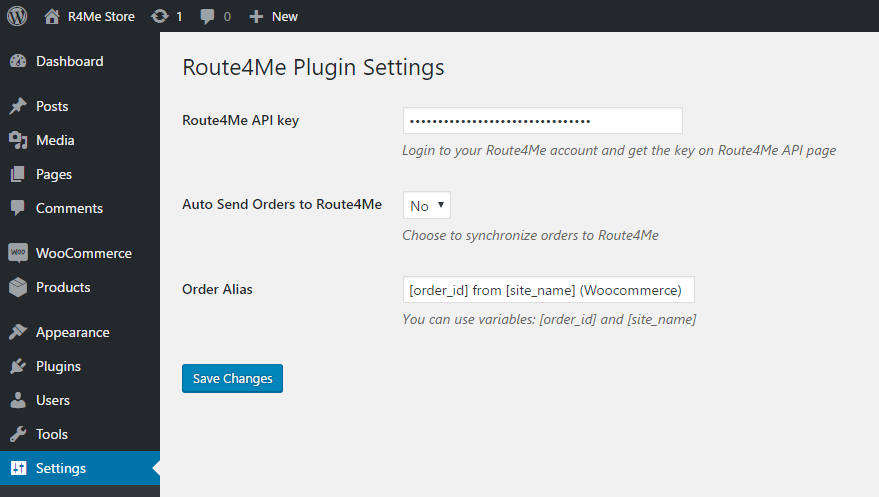 Optimize routes when you use the Route4Me plugin for the WooCommerce E-Commerce platform