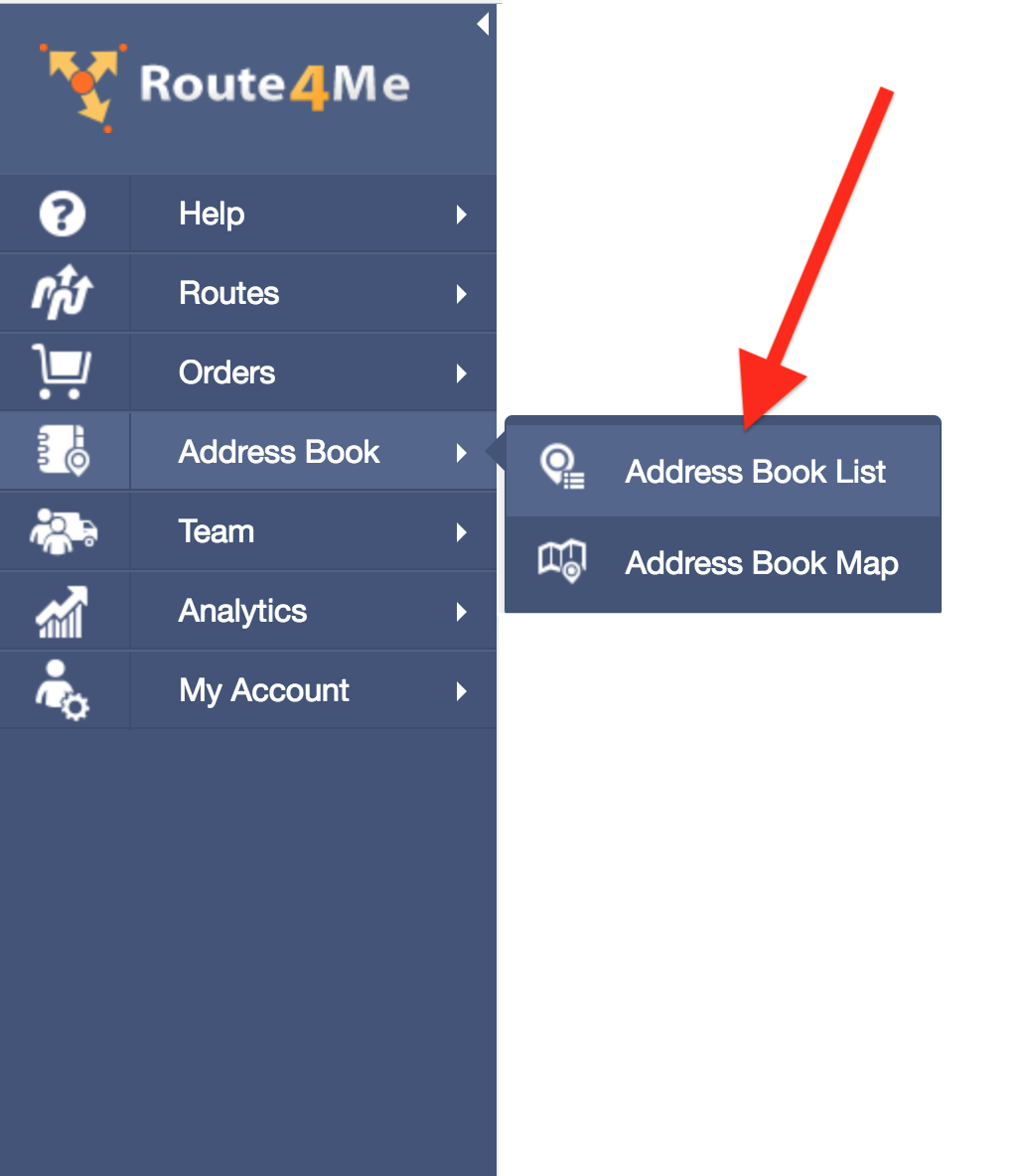 Adding Contacts to your Route4Me's Address Book